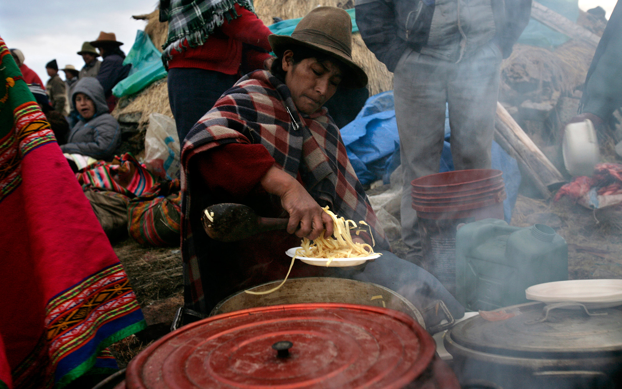 Cooking for  Yawar Fiesta celebration in the Peruvian Andes. Photo by  Karla Gachet/Panos
