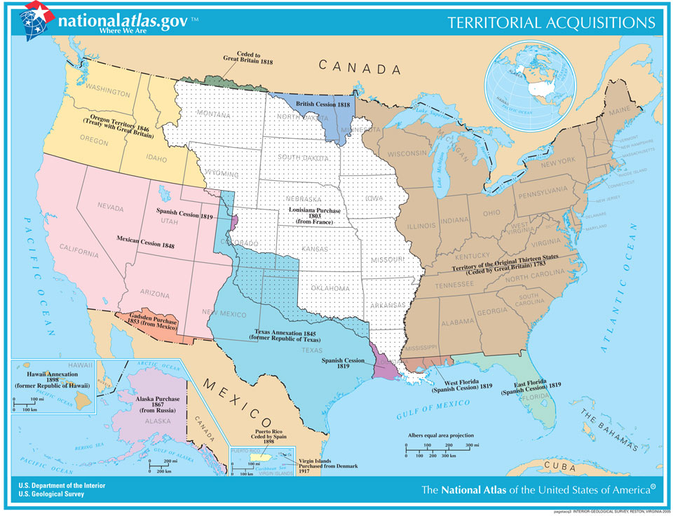 The Invasion Of America Visualises One Possibility Compare It With A Map Of Territorial Acquisitions Produced By The Us Geological Survey In 2014
